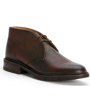 Frye Men's James Lug Chukka Shoes, Dark Brown, hi-res