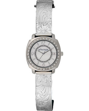 Montana Silversmiths Large Moon Face Watch, Silver, hi-res