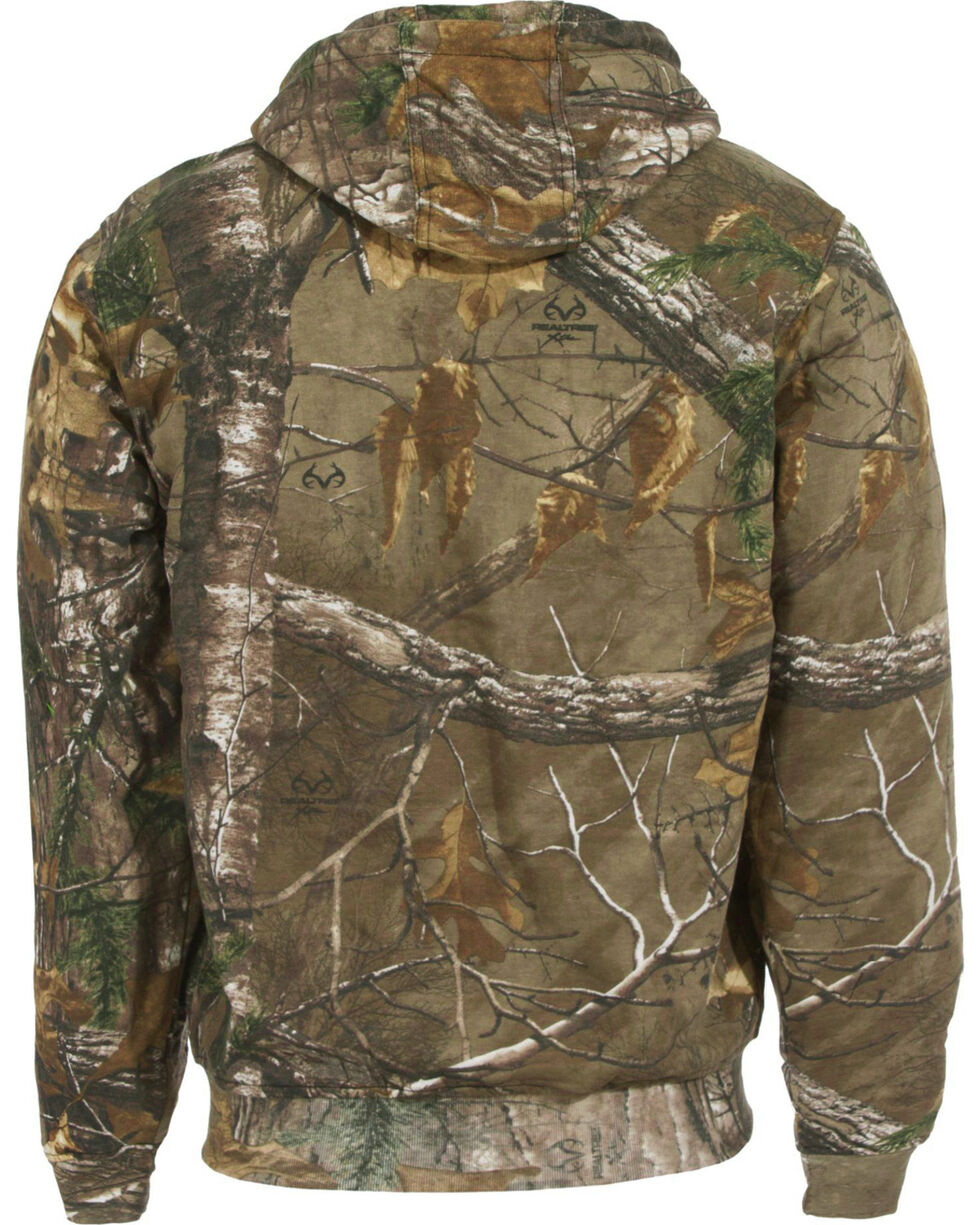 Berne Camouflage All Season Hooded Thermal Lined Sweatshirt - Tall Sizes, Camouflage, hi-res