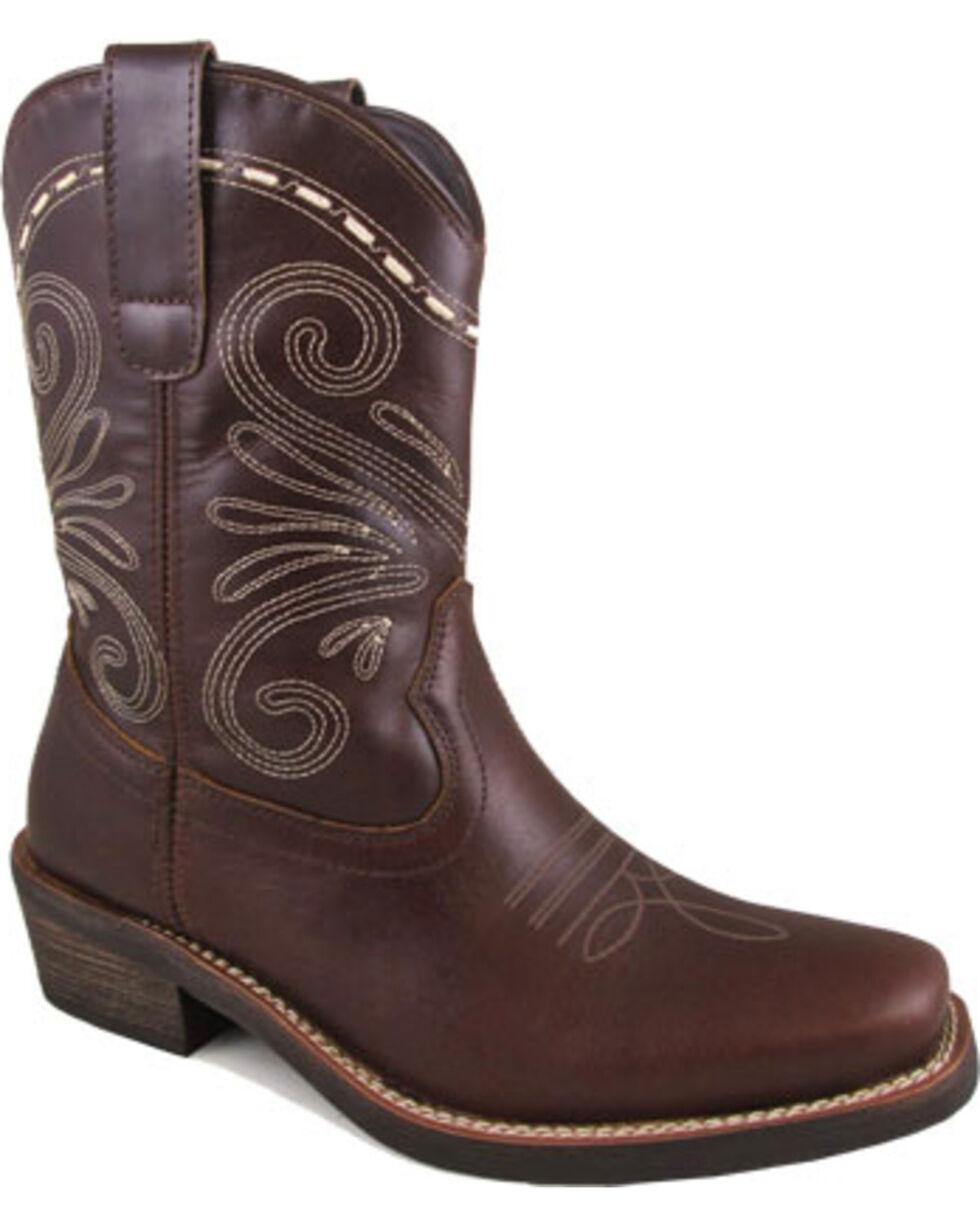 "Smoky Mountain Women's Brown 8"" Josie Boots - Square Toe , Dark Brown, hi-res"