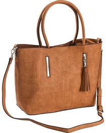 Wear N.E. Wear Women's Brown Tassel 3 Piece Handbag, , hi-res