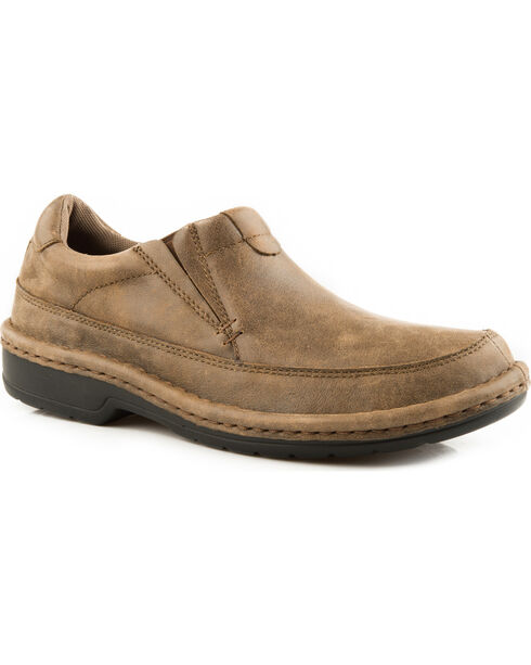 Roper Men's Tan Powerhorse Casual Slip-On Shoes , Tan, hi-res