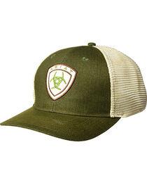 Ariat Men's Dark Green Shield Logo Baseball Cap , , hi-res