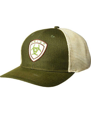 Ariat Men's Dark Green Shield Logo Baseball Cap , Dark Green, hi-res