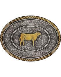 Montana Silversmiths Prize Heifer Classic Impressions Attitude Belt Buckle, , hi-res