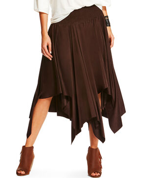 Ariat Women's Brown Afton Skirt , Brown, hi-res