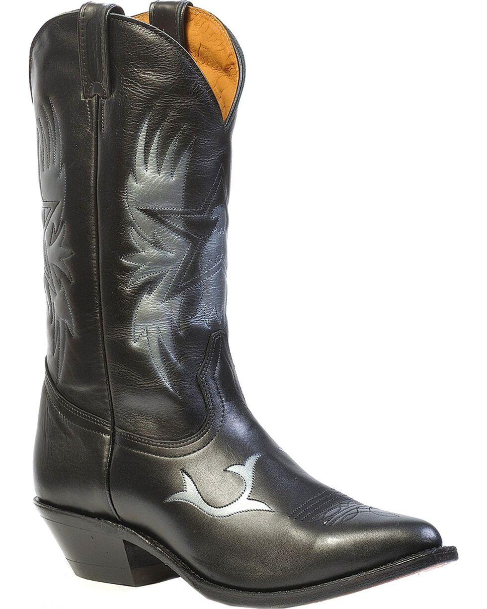 "Boulet Men's 13"" Challenger Eagle Cowboy Boots, Black, hi-res"