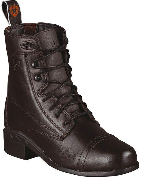 Ariat Kid's Performer III Paddock Boots, Brown, hi-res