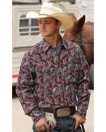 Cinch Men's Paisley Modern Fit Long Sleeve Western Shirt , , hi-res