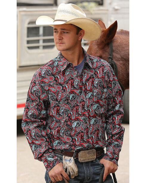 Cinch Men's Paisley Modern Fit Long Sleeve Western Shirt , Multi, hi-res