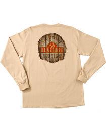 Realtree Men's Sand Brown Get Outdoors Long Sleeve T-Shirt , , hi-res