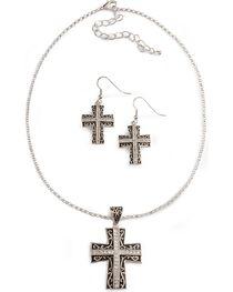 Montana Silversmiths Women's Cross Jewelry Set, , hi-res