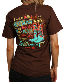 """Cherished Girl Women's """"Oh No"""" Graphic Tee, Brown, hi-res"""