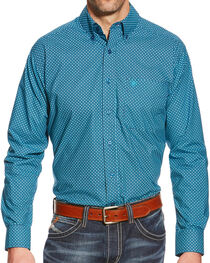 Ariat Men's Woodrow Fitted Long Sleeve Print Shirt, , hi-res
