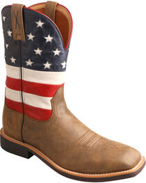 Twisted X Men's VFW American Flag Top Hand Western Boots, , hi-res
