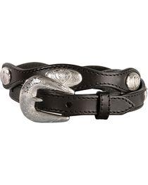 Women's Fancy Heart Conchos Scalloped Belt, , hi-res