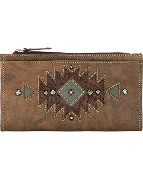 American West Women's Folded Western Wallet, Distressed, hi-res