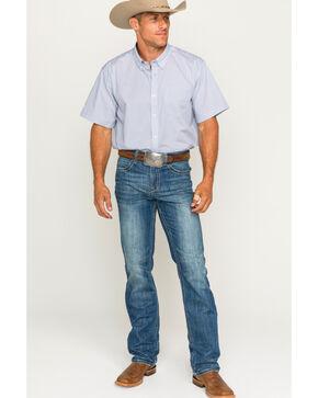 Cody James Men's Hogback Button Down Short Sleeve Shirt, White, hi-res