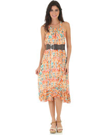 Wrangler Rock 47 Women's Multi Sleeveless Ruffle Hem Dress, , hi-res