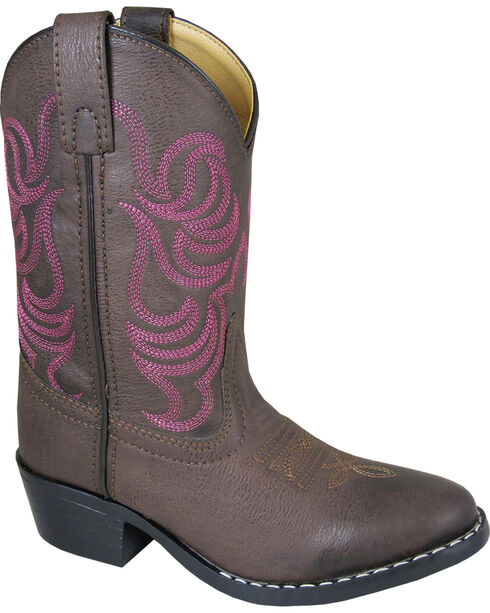 Smoky Mountain Toddler Girls' Monterey Western Boots - Round Toe , Brown, hi-res