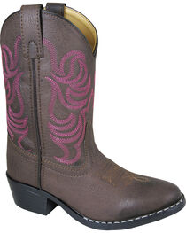 Smoky Mountain Youth Girls' Monterey Western Boots - Round Toe , , hi-res