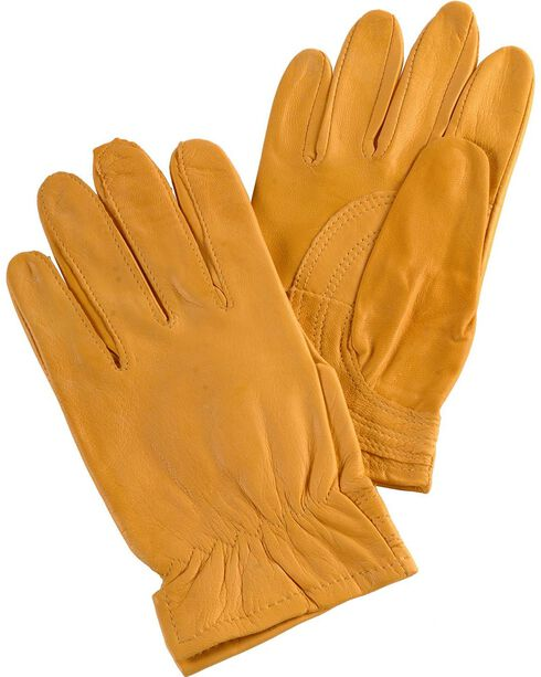 Justin Women's Tan Goatskin Gloves, Tan, hi-res