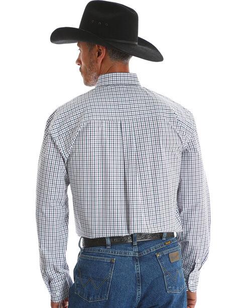 Wrangler Men's George Strait Long Sleeve Shirt, Red, hi-res