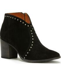 Frye Women's Black Nora Stud Sip Short Boots - Pointed Toe , , hi-res