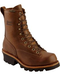 "Chippewa Men's Steel Toe 8"" Logger Work Boots, , hi-res"