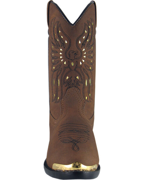 Smoky Mountain Boys' Phoenix Western Boots - Round Toe, Brown, hi-res