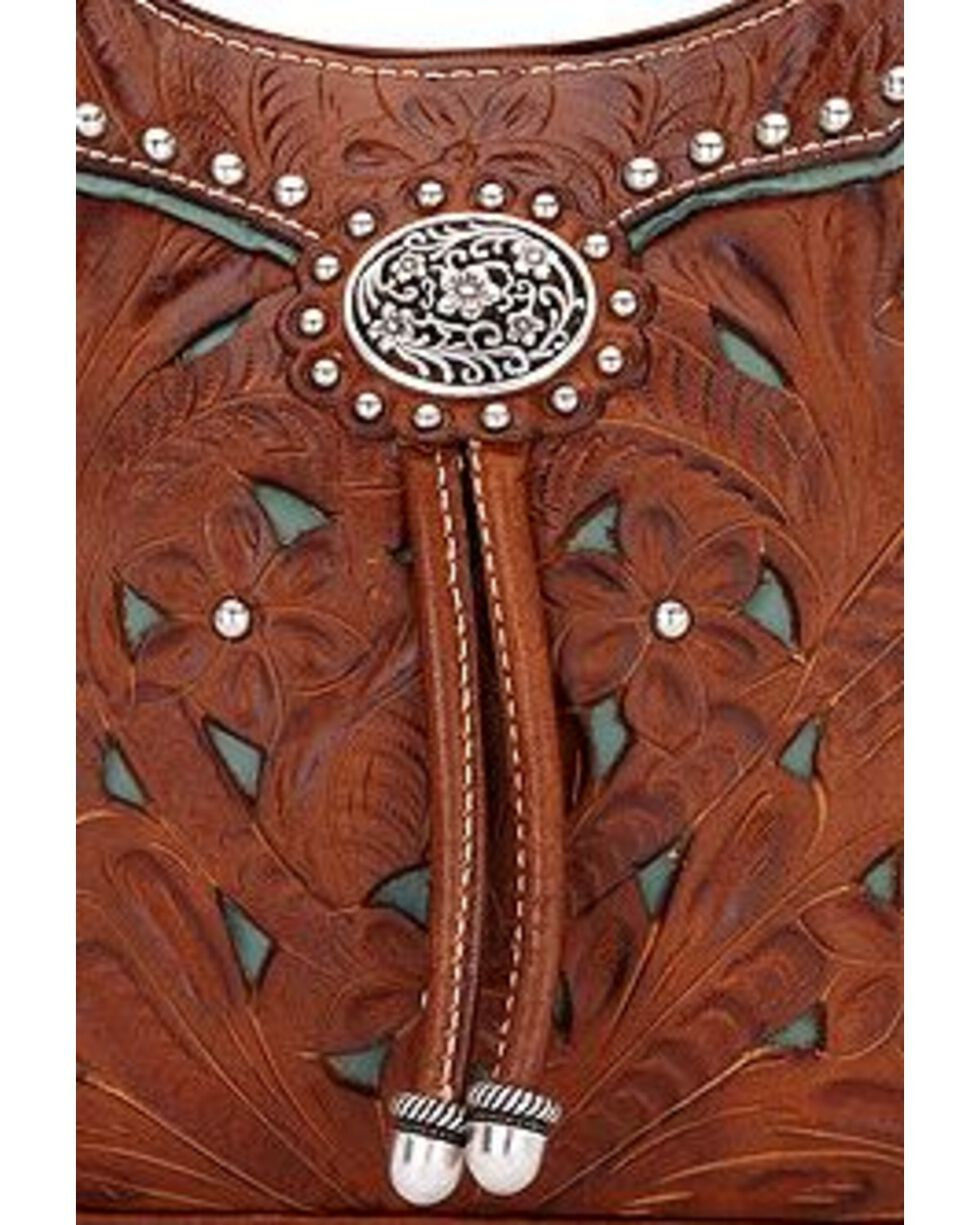 American West Women's Lady Lace Western Purse, Brown, hi-res