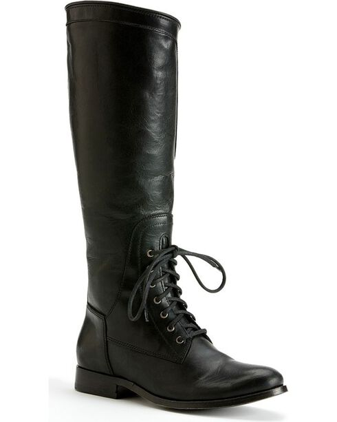 Frye Women's Melissa Lace-up Riding Boots - Round Toe, Black, hi-res