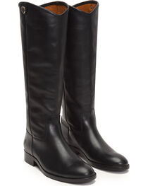 Frye Women's Black Melissa Button 2 Tall Boots - Round Toe , , hi-res