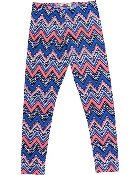 Self Esteem Girls' Denim Shirt, Patterned Leggings and Fringe Bag Set, Light Blue, hi-res