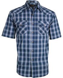Pendleton Men's Blue Plaid Frontier Western Shirt , , hi-res