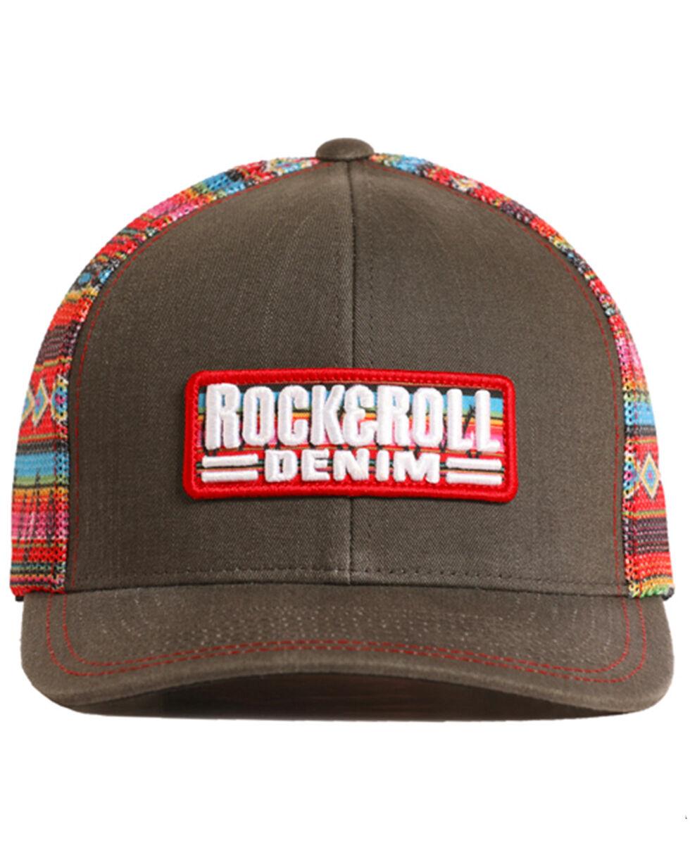 Rock & Roll Denim Men's Serape Printed Mesh Cap, Charcoal, hi-res