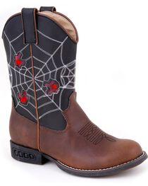 Roper Kid's Light Up Spider Web Western Boots, , hi-res