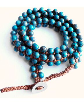 Jewelry Junkie Double Strand Turquoise Beaded Wrap Bracelet, Multi, hi-res