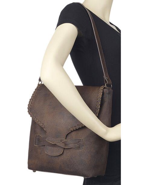 TrueLu Women's Brown Claire Bucket Bag , Dark Brown, hi-res