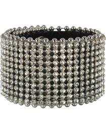 Shyanne® Women's Rhinestone Belt Leather Snap Bracelet, , hi-res