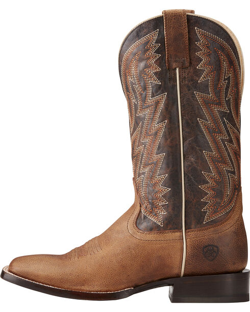 Ariat Men's Ranchero Rebound Brown Cowboy Boots - Square Toe, Brown, hi-res