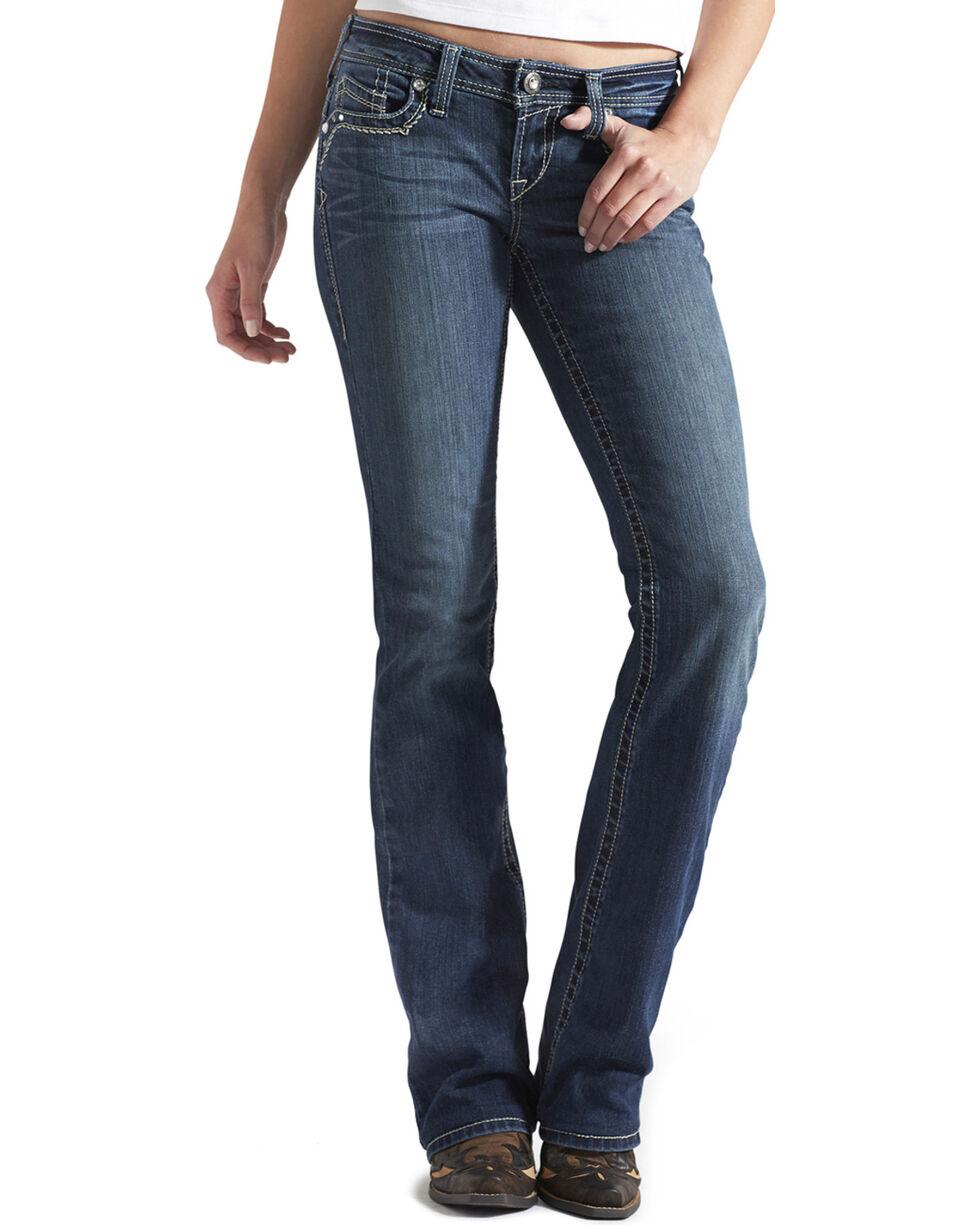 Ariat Women's Ruby 3D A Mystic Boot Cut Jeans, Denim, hi-res