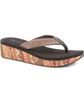Roper Women's Brown Kyra Sandals , Brown, hi-res