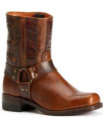 Frye Men's Harness Americana Short Boots - Square Toe, , hi-res