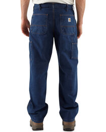 Carhartt Flame Resistant Signature Denim Dungaree Work Jeans - Big & Tall, , hi-res