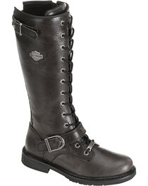 "Harley-Davidson Women's Jill 13"" Lace-Up Motorcycle Boots, , hi-res"