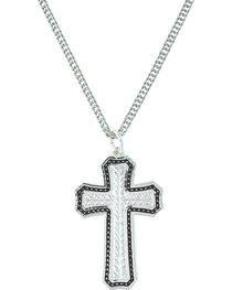 Montana Silversmiths Women's Pinpoints & Wheat Cross Necklace , , hi-res