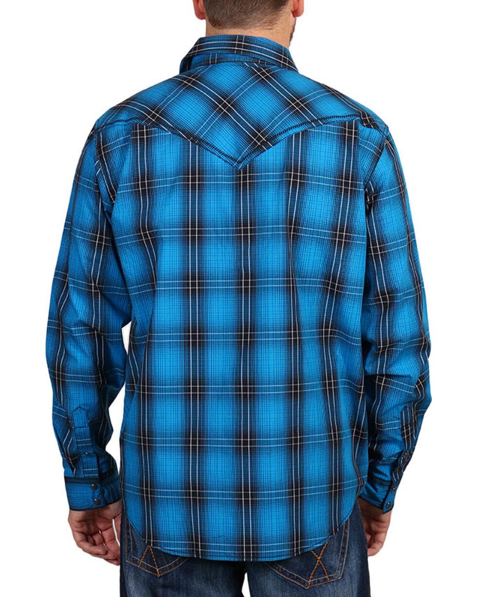 Cody James® Men's Plaid Long Sleeve Shirt, Black, hi-res