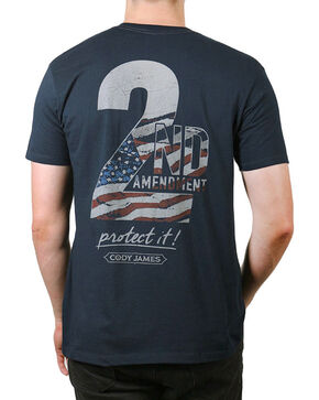 Cody James® Men's 2nd Amendment T-Shirt, Navy, hi-res