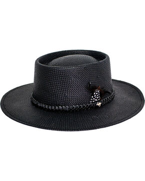 Peter Grimm Women's Black Lara Straw Hat , Black, hi-res